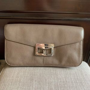 Neutral Leather Clutch Marc by Marc Jacobs